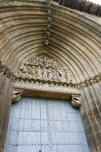 The 14th-century Gothic portal to the Church of Santo Sepulcro.