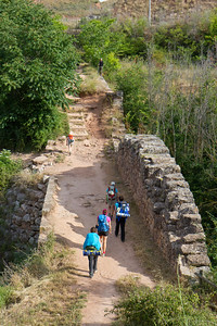Much of the Camino de Santiago follows the Roman Via Trajana.   After the village of Ciraiqui, pilgrims cross an impressive Roman bridge.