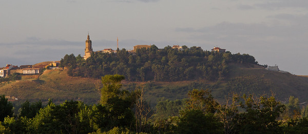 A view of the town of Mañeru, along the Camino de Santiago.