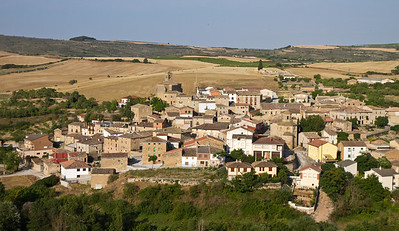 The picturesque medieval town of Torres del Rio on the Camino de Santiago.