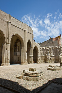 The ruins of the Gothic Iglesia de San Pedro in Viana, Spain have been converted into a municipal park.