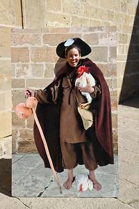 Author Anna Dintaman mimicks the famous Saint Dominick.