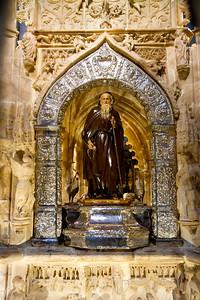 A statue of Saint Dominick in the cathedral of Santo Domingo de la Calzada.