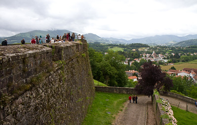 The seventeenth-century citadel of St-Jean-Pied-de-Port, France, starting place of the Camino de Santiago.