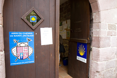 The Pilgrim Office (Accueil Saint-Jacques) in St-Jean-Pied-de-Port, France offers credenciales and advice on walking the Camino de Santiago.