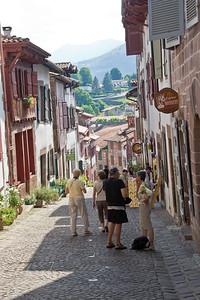 Rue de la Citadelle in St-Jean-Pied-de-Port, the first steps on the Camino de Santiago for many pilgrims.