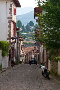 Rue de la Citadelle in St-Jean-Pied-de-Port, the first steps on the Camino de Santiago for many pilgrims.