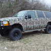 Camouflage wrap on Hunting/Camping SUV
