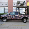 Camouflage wrap on Hunting Truck