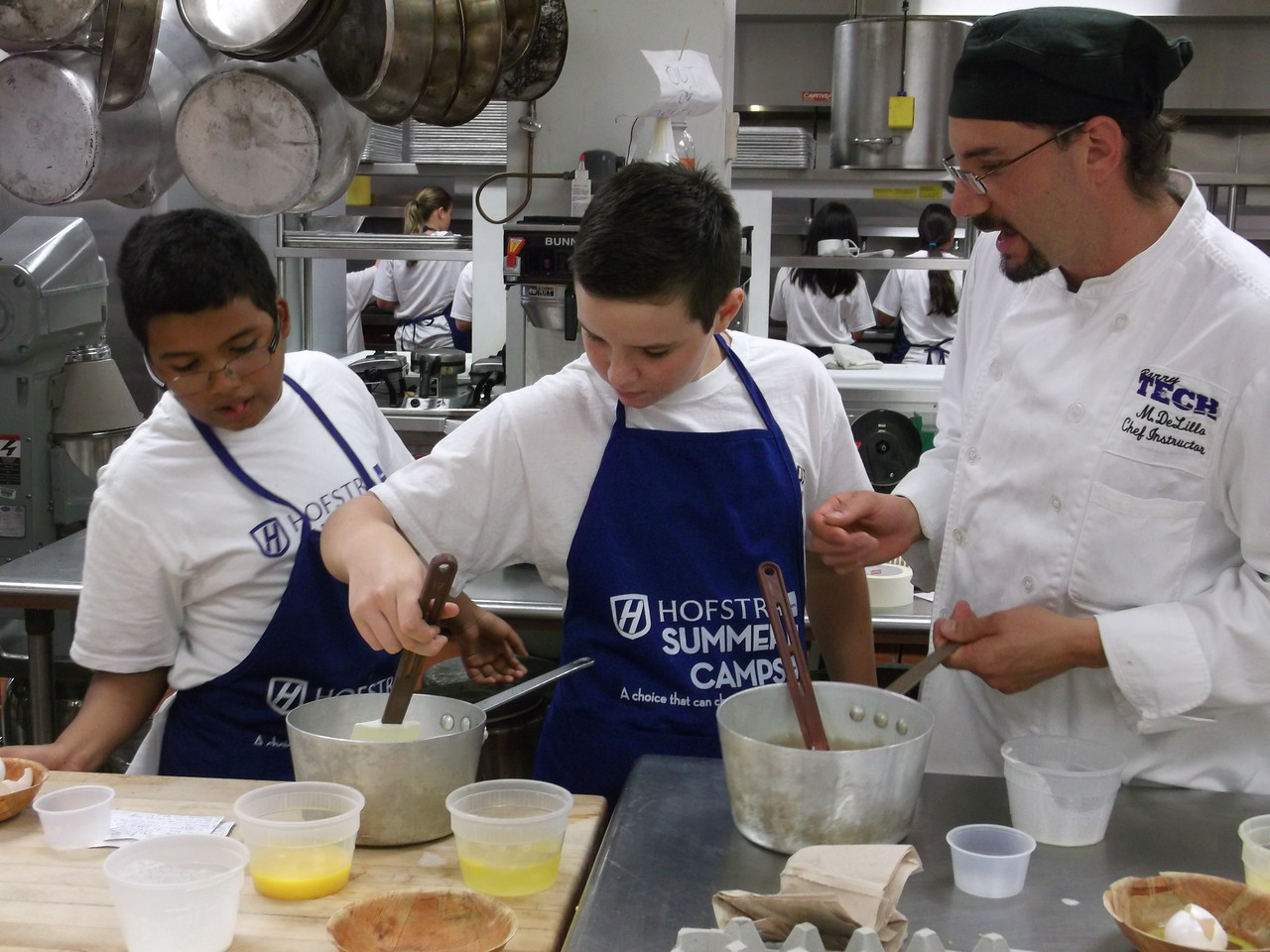 chef mike with campers