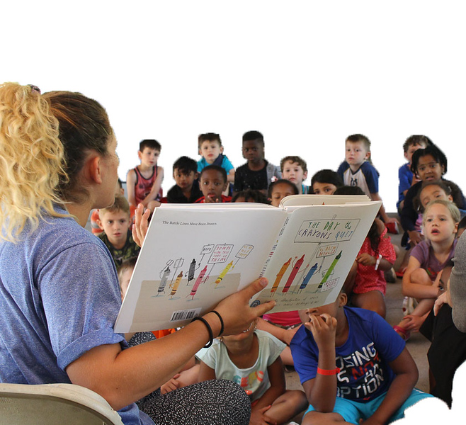 reading to cubs