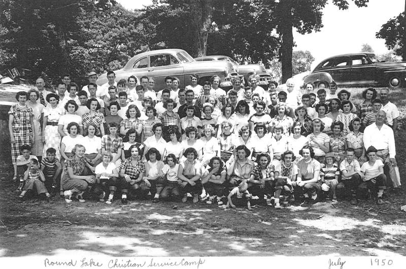 Round Lake Christian Service Camp, Sr Hi Week 7, July, 1950 Rev David Morris, Dean