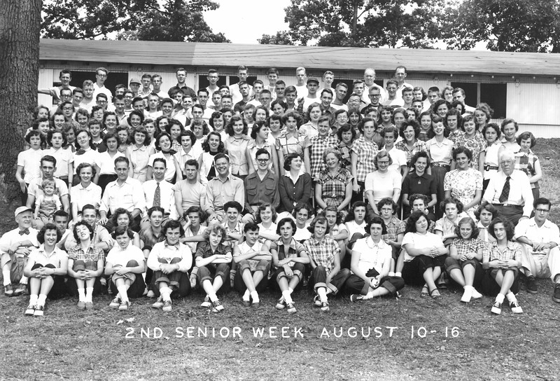 2nd Senior Week, August 10-16, 1952 Omar Hall, Dean (Harold Scott, Dean not here, O  Hall substitued)