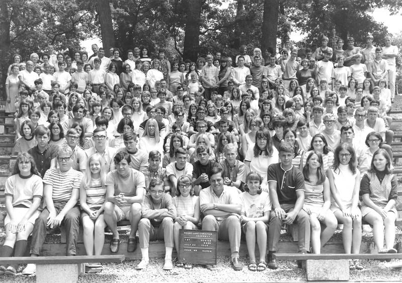 1st Senior Week, July 20-26, 1969 Rod Huron, Dean