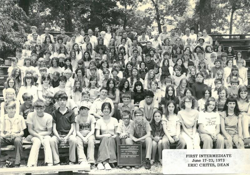1st Intermediate Week, June 17-23, 1973 Eric Crites, Dean