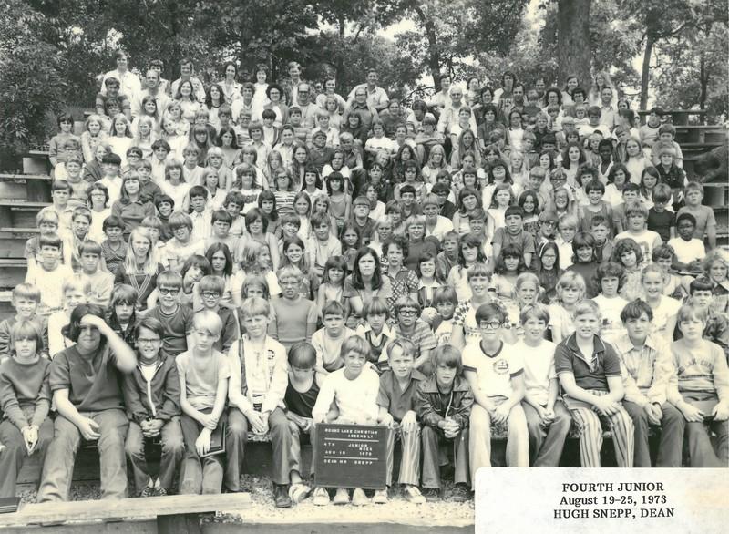 4th Junior Week, August 19-25, 1973 Hugh Snepp, Dean