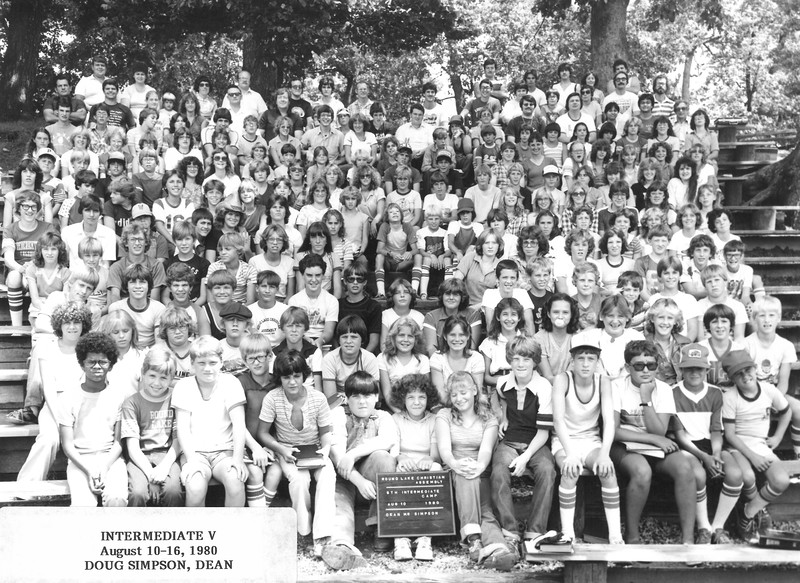 5th Intermediate Week, August 10-16, 1980 Doug Simpson, Dean