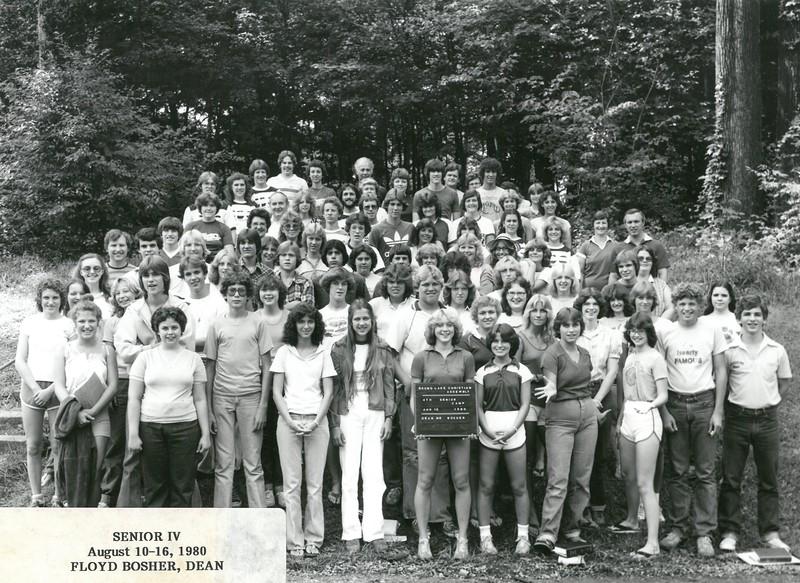 4th Senior Week, August 10-16, 1980 Floyd Bosher, Dean