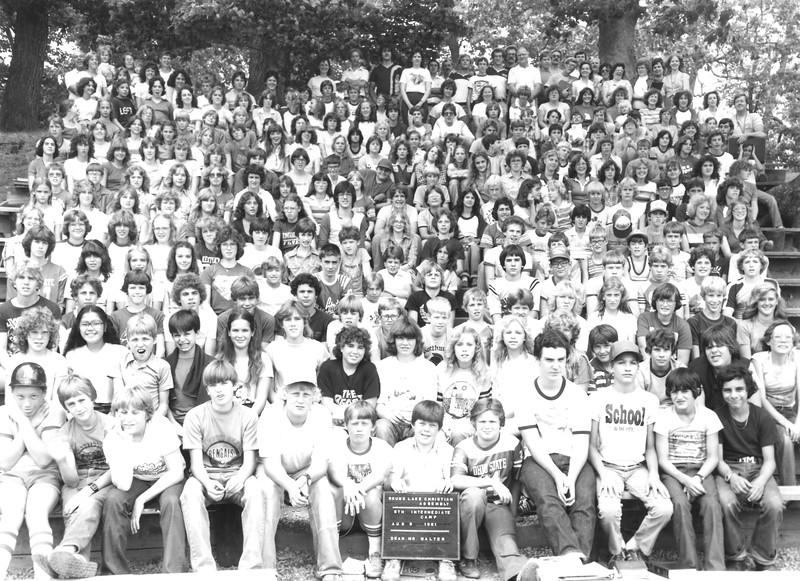 5th Intermediate Week, August 9-15, 1981 Mr Walters, Dean