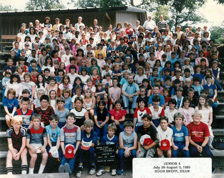 Junior 4, July 28-Aug 3, 1985  Hugh Snepp, Dean