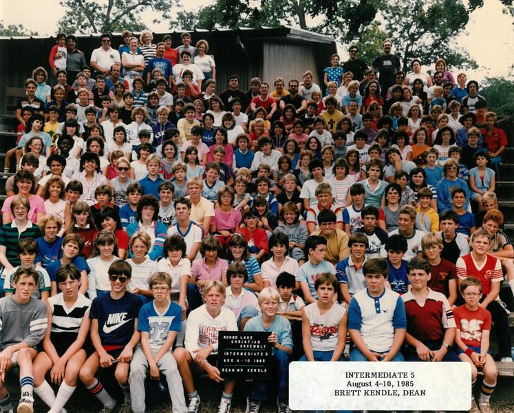 Intermediate 5, Aug 4-10, 1985  Brett Kendle, Dean