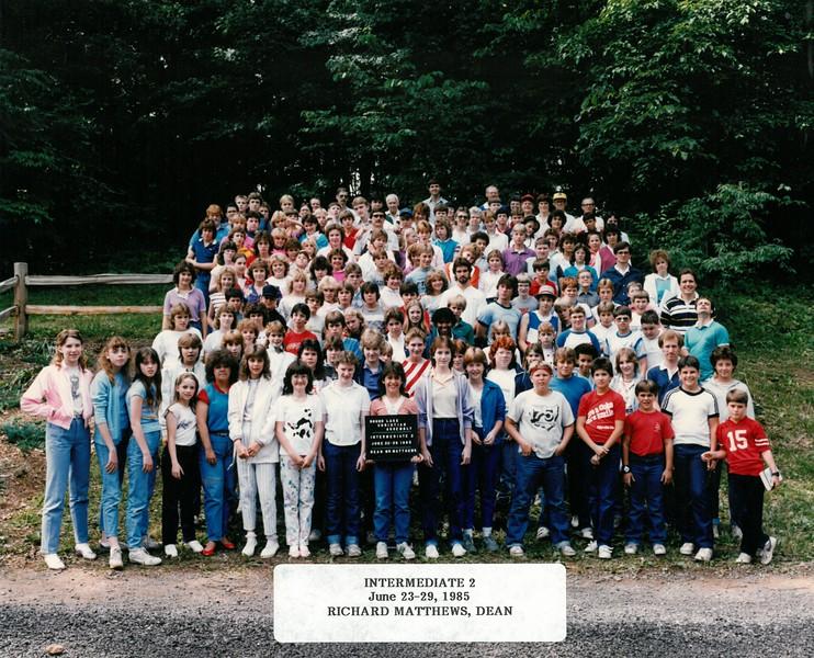 Intermediate 2, June 23-29, 1985  Richard Matthews, Dean