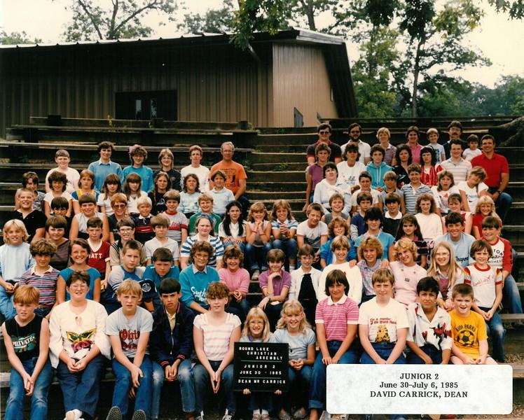Junior 2, June 30-July 6, 1985  David Carrick, Dean