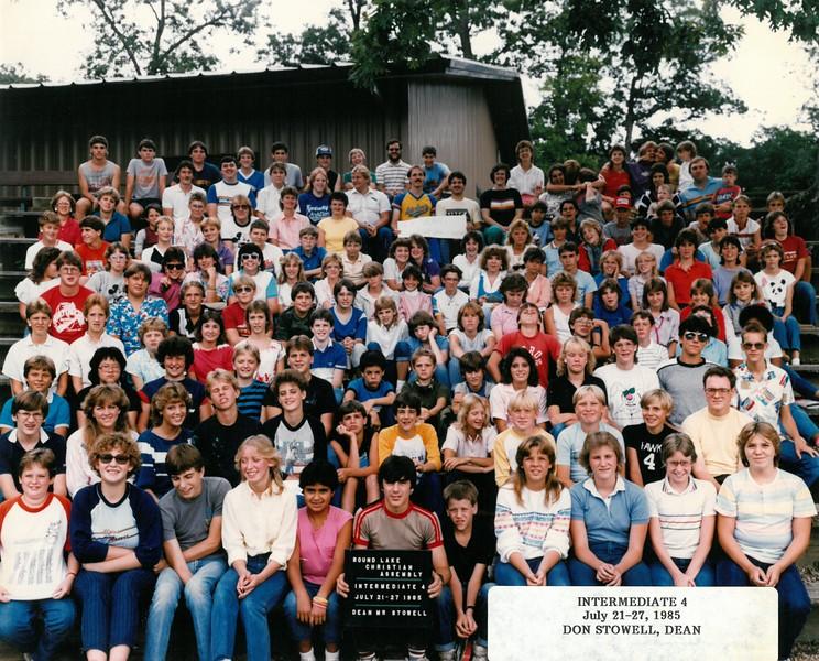 Intermediate 4, July 21-27, 1985  Don Stowell, Dean
