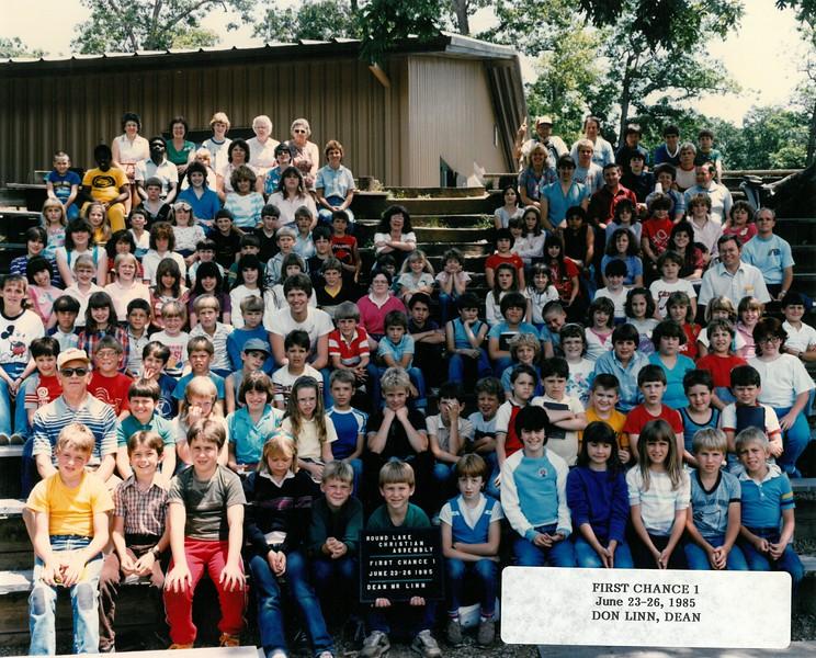 First Chance 1, June 23-26, 1985  Don Linn, Dean