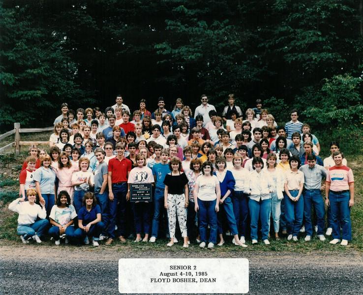 Senior 2, Aug 4-10, 1985  Floyd Bosher, Dean
