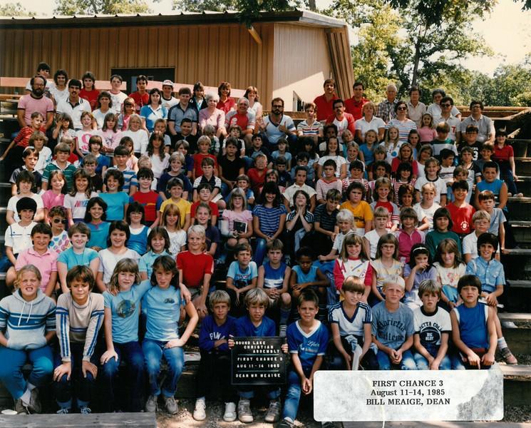First Chance 3, Aug 11-14, 1985  Bill Meaige, Dean