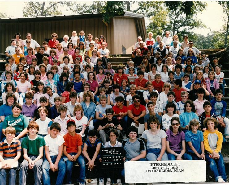 Intermediate 3, July 7-13, 1985  David Kerns, Dean