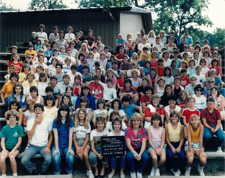 Intermediate 3, July 20-26, 1986 Mr Stowell, Dean