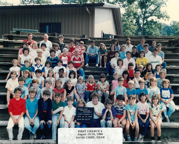 First Chance 4, Aug 13-16, 1986 David Crist, Dean