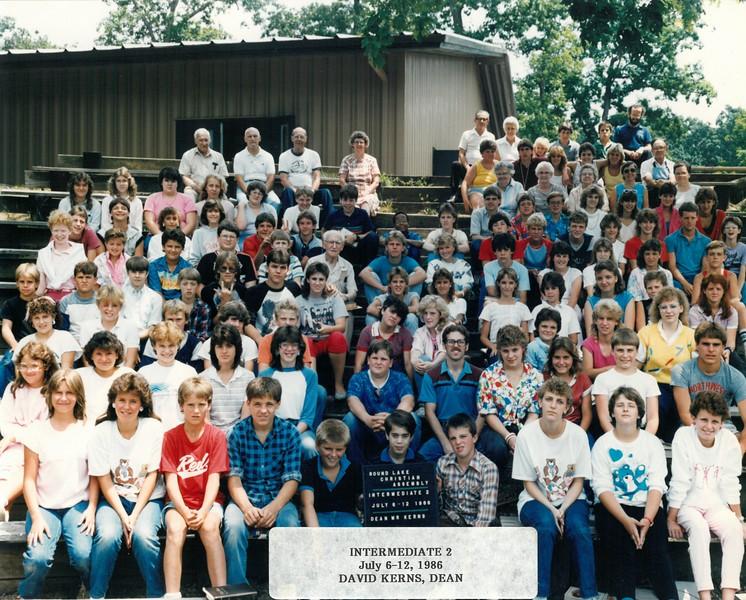 Intermediate 2, July 6-12, 1986 David Kerns, Dean