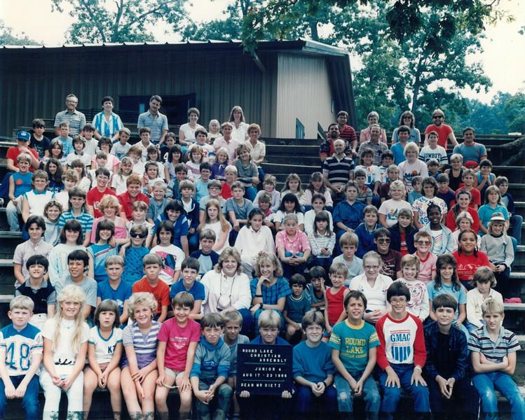 Junior 4, Aug 17-23, 1986 Mr Dietz, Dean