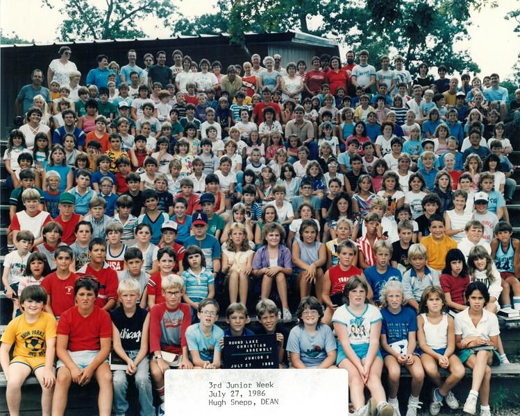 Junior 3, July 27, 1986 Hugh Snepp, Dean