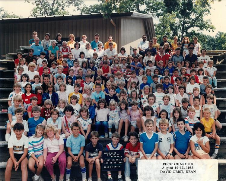 First Chance 3, Aug 10-13, 1986 David Crist, Dean