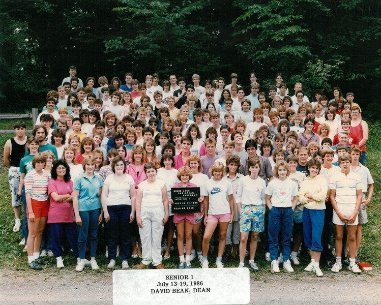 Senior 1, July 13-19, 1986 David Bean, Dean