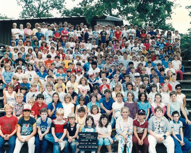 Junior 2, July 13-19, 1986 Tom Van Meter, Dean