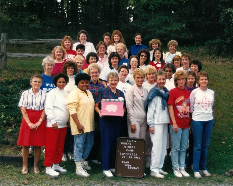 Women's Fitness Camp, September 24-29, 1989 Judy Thomas, Dean