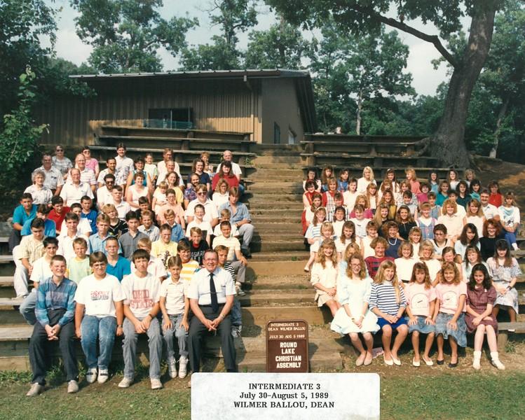 Intermediate 3, July 30-Aug 5, 1989 Wilmer Ballou, Dean