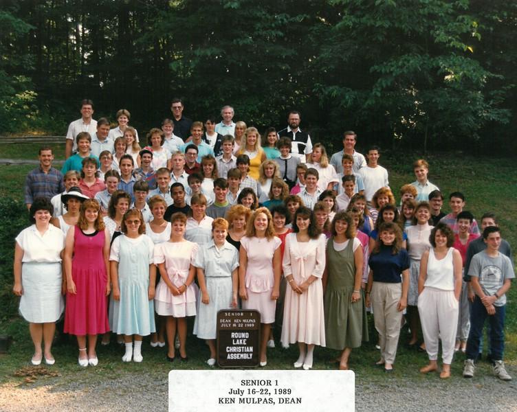 Senior 1, July 16-22, 1989 Ken Mulpas, Dean