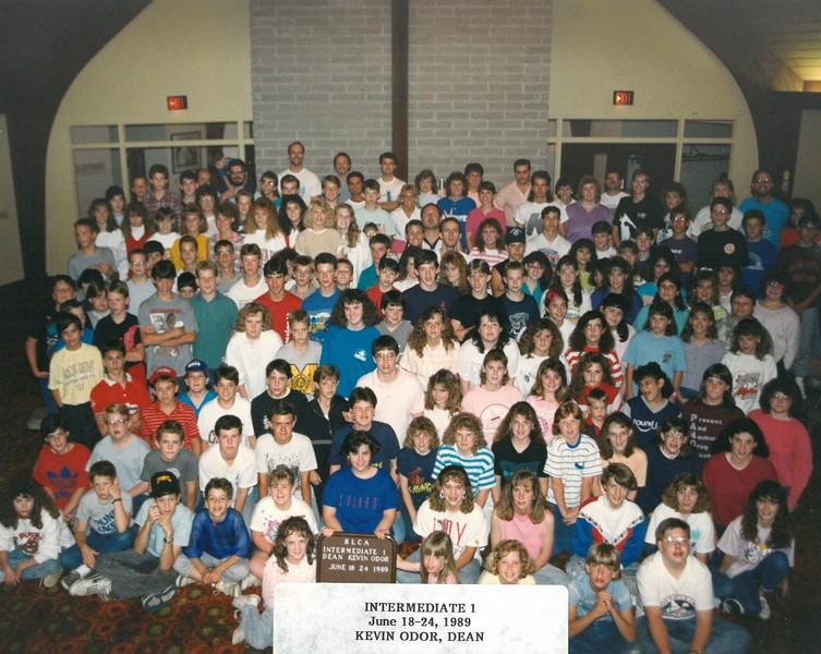 Intermediate 1, June 18-24, 1989 Kevin Odor, Dean