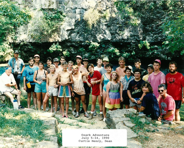 Ozark Adventure, July 5-14, 1990 Curtis Henry, Dean