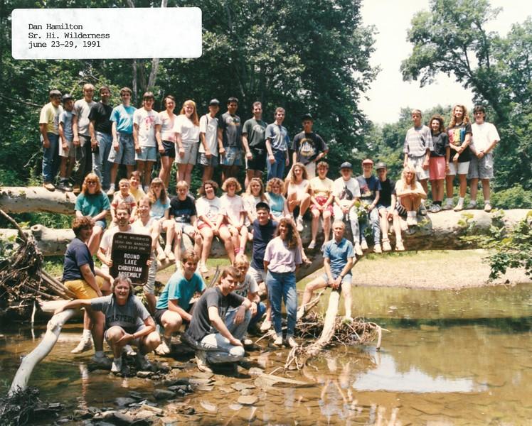 Senior High Wilderness, June 23-29, 1991 Dan Hamilton, Dean