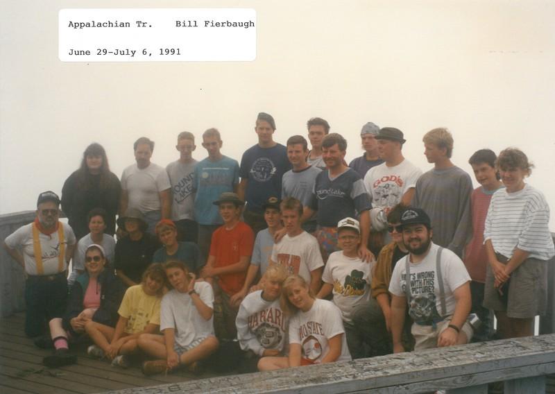 Appalachian Trail, June 29-July 6, 1991 Bill Fierbaugh, Dean