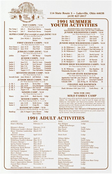 1991 Summer Youth Activities