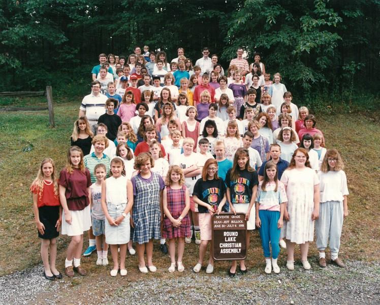 Seventh Grade, June 30-July 6, 1991 Jeff Bullock, Dean