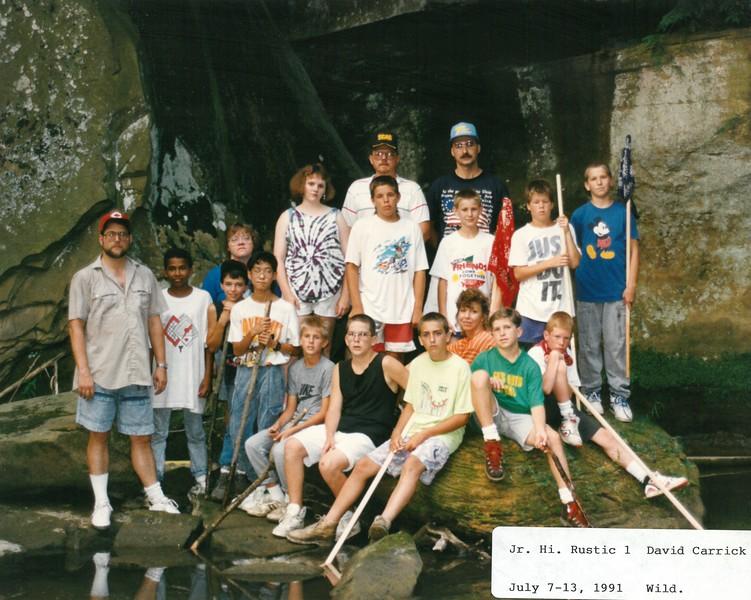 Junior High Rustic 1, July 7-13, 1991 David Carrick, Dean